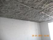 Эковата монтаж на потолке